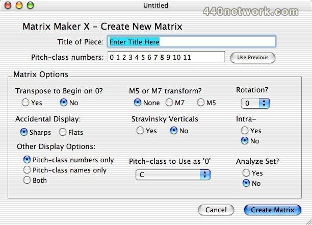 M T Software Matrix Maker