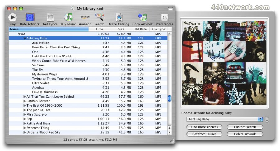 KavaSoft iTunes Catalog