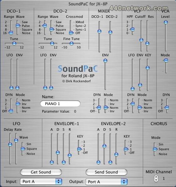 Dirk Rockendorf SoundPaC JX8P