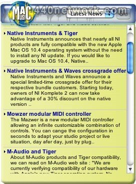 MacMusic Mac Music Widget