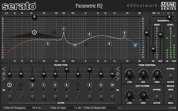 Serato Rane Series Parametric EQ