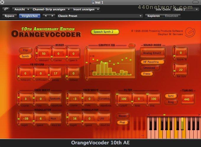 Zynaptiq OrangeVocoder 10AE