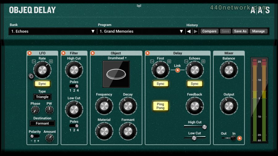 Applied Acoustics Systems (AAS) Objeq Delay