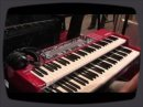 Nord's new babies at Frankfurt Musikmesse: the C2 Combo Organ and its sister the Pedal Keys 27 bass pedal keyboard.
