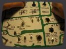First sounds from my D.I.Y MFOS WP-20.. Build from junkbox parts, so all potentiometers are wrong values and logarithmic insted of linear.. Quite the task to control it! Still in testing/modding state so for the time being the panel is cardboard..