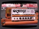 New Orange Amplifiers, featuring the Tiny Terror hand wired edition, the Dual Terror and the Terror Bass, at winter NAMM 2009.