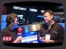 Roland unveils its new V-Piano at Winter NAMM 2009.