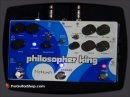 The Pigtronix Philosopher King is a sustainer, compressor, distortion, and polyphonic amplitude synthesizer. Wow. That's why it is called the KING. The Pigtronix Philosopher King takes the same compression and sustainer circuits and build from the Philosopher's Tone and adds a full set of the ADSR controls. The ADSR controls include swell, fade, hold level, speed range, one-shot modes, selectable auto reset, CV i/o, and the ability to add an expression pedal for swell and fade times. This does a lot, folks. Of course, you get all the sweet optical compression of the original Philosopher's Tone -- from subtle and clean to the ability to dial in howling sustained lines. The swell function is truly fantastic, and easy to apply or disengage -- it is a pick triggered volume swell and will reset itself when you mute the instrument. The fade function can be used independently of the swell and is also pick triggered. You can also set the level of decay, bringing the audio down to a predetermined level. The auto reset switch can deliver fluttering trem waves and amplitude modulation. The one shot mode allows you to run through the swell/fade/hold/release cycle no matter what is played after the cycle is triggered. This allows intricate waves of amplitude modulation on top of the sounds coming from your signal...and with a trigger input jack the swell and fade functions can be controlled by an external source. The possibilities are endless with this extraordinary and massive <b>...</b>